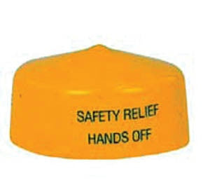 "7/8"" Yellow Relief cap fit H124"