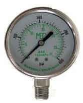"0-5 PSI dry pressure gauge 1/4"" MPT bottom mount 2.5"" dia"
