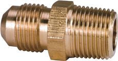 BRASS FL LONG THREAD CON 3/8 INFLX1/2 INMIP