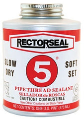 1/2 Pint Rectorseal No 5 Pipe Thread Sealant