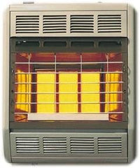 Empire 18M BTU radiant vent free heater thermostat propane