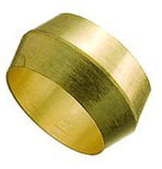 "SLEEVE-COMPRESSION 1/4"" BRASS"