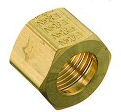"NUT-COMPRESSION 1/4"" BRASS"