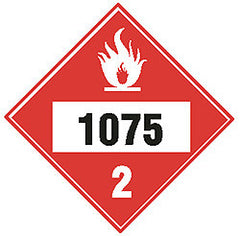 DECAL-MAGNETIC DIAMOND 1075 LP GAS BLACK/WHITE ON RED