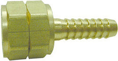 "FITTING-3/8"" HB X 9/16"" LH FML SWIVEL BRASS"
