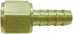 "FITTING-3/8"" HB X 3/8"" FML FLA SWIVEL BRASS"