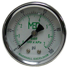 "GAUGE-1/4"" MPT BRASS BACK MT 2"" STEEL DIAL DRY 0-300 PSI"