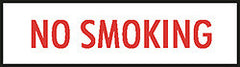 "DECAL-VINYL NO SMOKING 2"" LTRS RED ON WHITE 14"" X 3"""