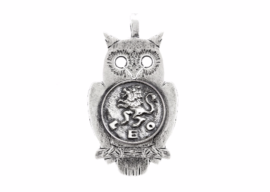 medallion necklace with the Leo medallion of The Zodiac noa tam coin jewelry one of a kind owl zodiac necklace