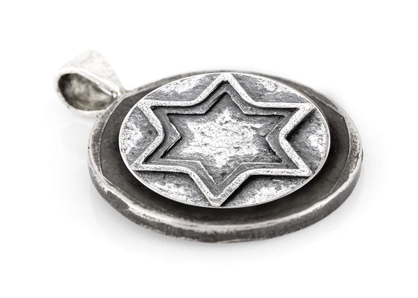 Star of David Coin Medallion Pendant on the Buffalo Nickel coin of USA - coin jewelry