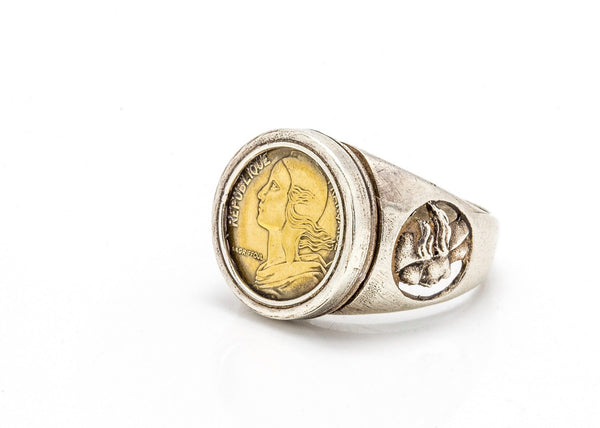 2th revulsion - French  coin ring