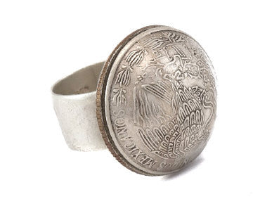 Golden Eagle Coin of USA and Mexico Partnership Ring