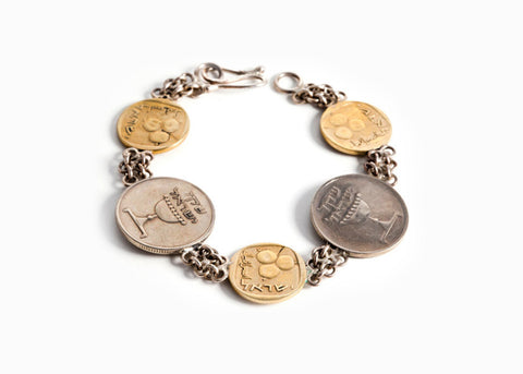 Israeli Coin Bracelet for Abundance - Coins of Israel
