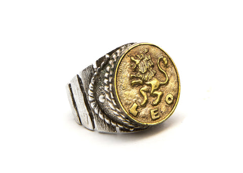 Leo Sign Astrology Zodiac  Ring