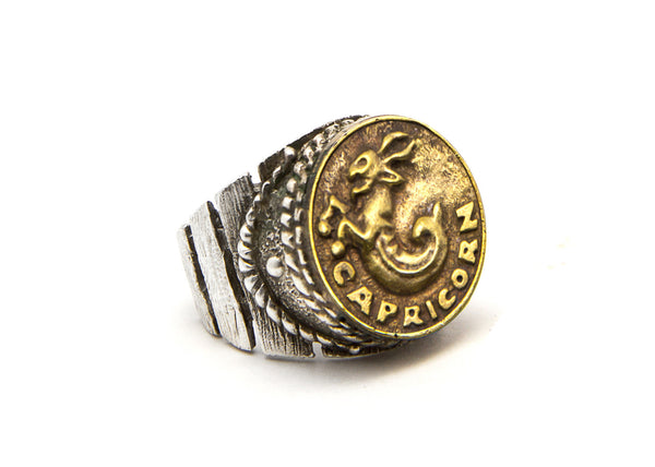 Capricorn Sign Astrology Zodiac Ring