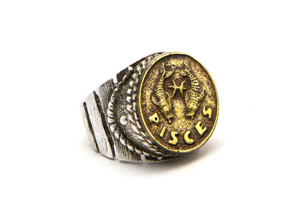 Pisces Sign Astrology Zodiac Ring