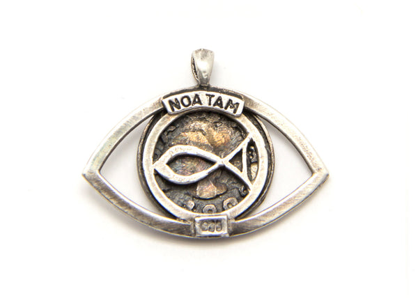 Gemini Sign Astrology Zodiac Charm Eye Necklace