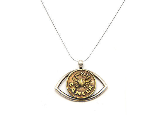 Cancer Sign Astrology Zodiac Charm Pendant Necklace