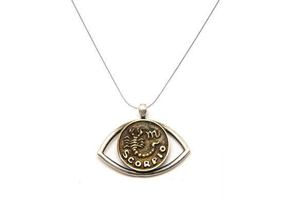 Scorpio Sign Astrology Zodiac Charm Eye Necklace