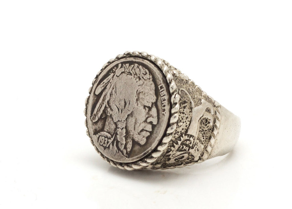 b23fc6d779474 Buffalo Nickel Old, Collector's Coin Ring - Coin of USA