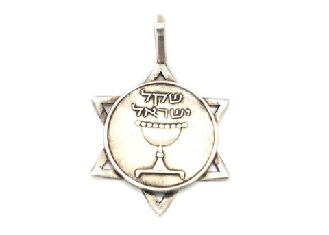 Israeli Coin Star of David - 1 Sheqel Coin of Israel