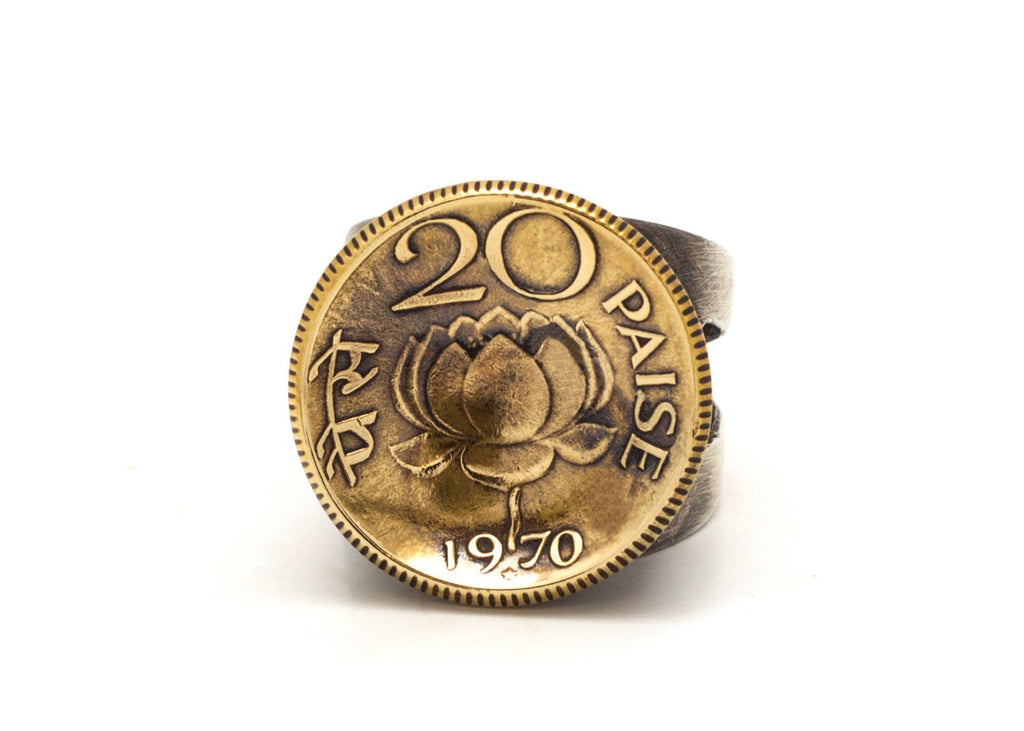 Indian Coin Ring 20 Paise Old Collector s Coin of India – noatam