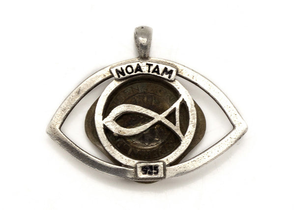 Netherlands Old, Collector's Coin - 5 Cent Coin Eye Pendent Necklace