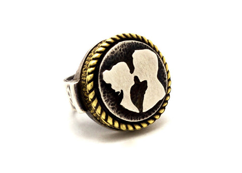 The Couple Love Medallion Ring