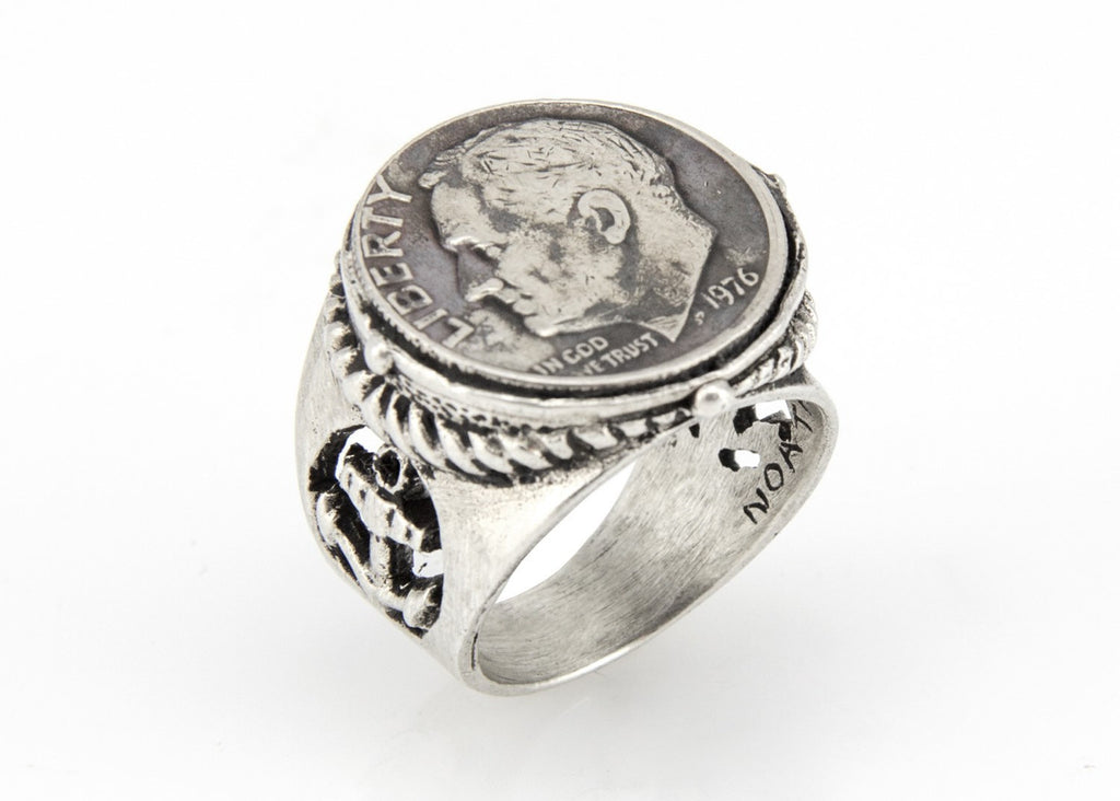 US Dime Sterling Silver Coin Ring