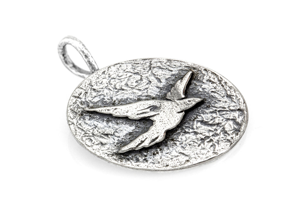 Bird Coin Flying Medallion Necklace