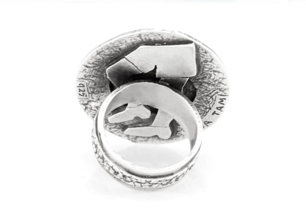 Bird Coin Flying Medallion Ring