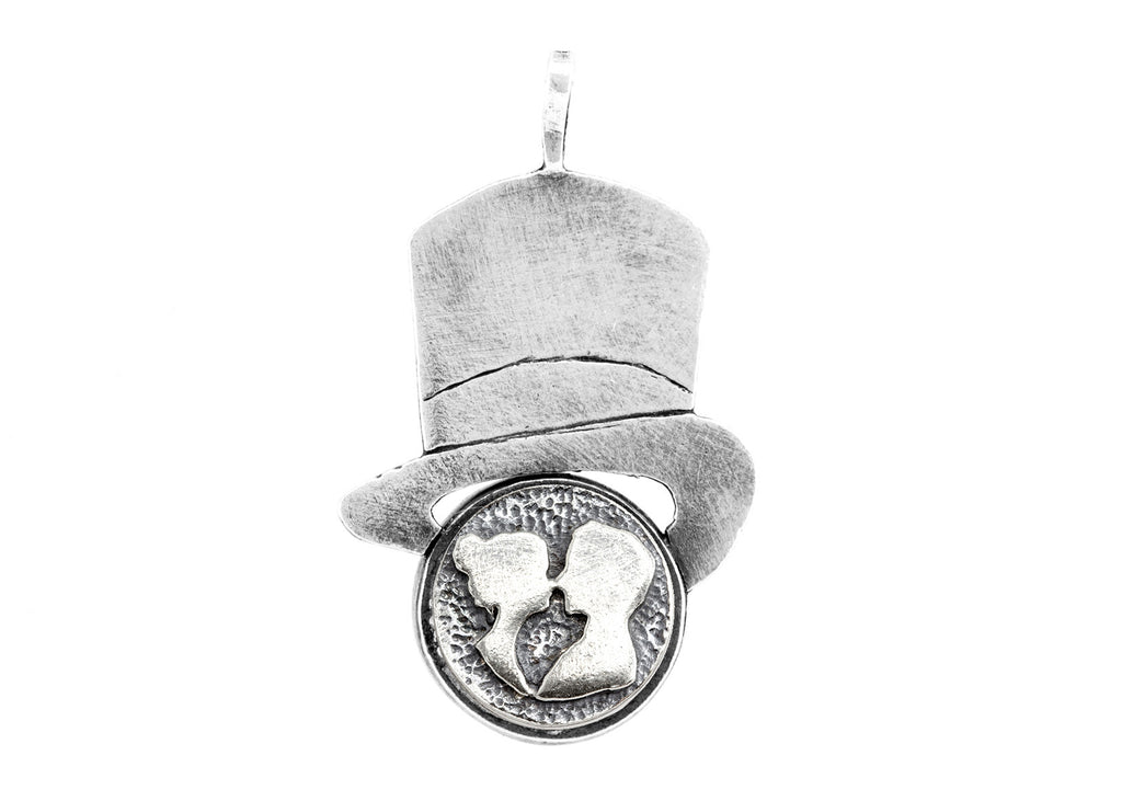 The Couple Medallion Hat Pendant Necklace