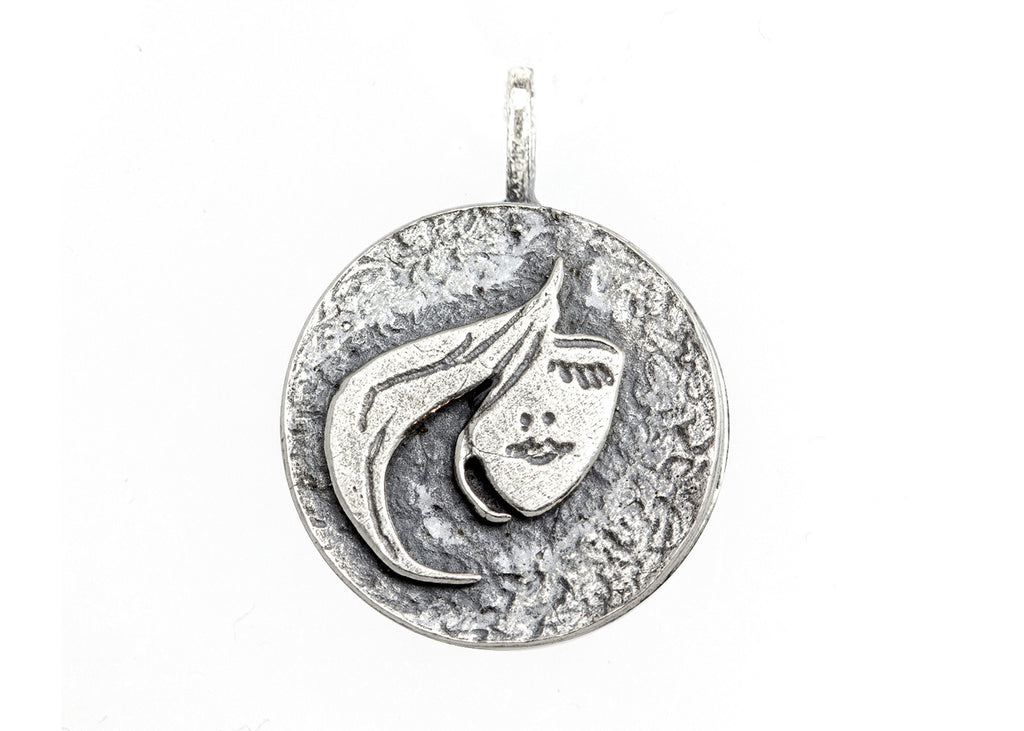 Stylish Face Medallion Coin Necklace