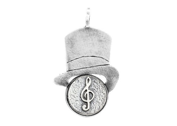 Sol Key Musical Medallion Hat Necklace