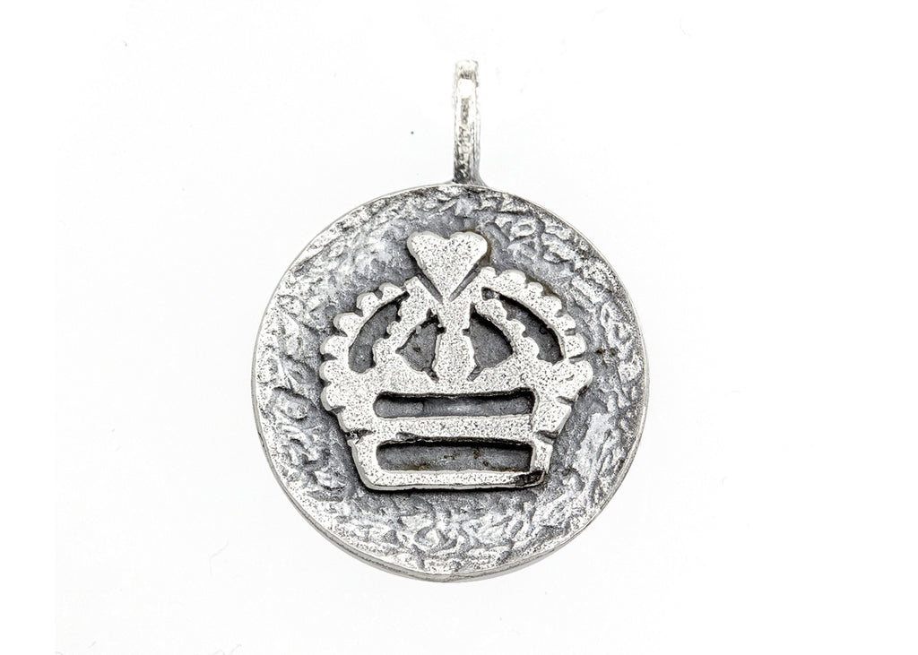 Regal Crown Medallion Pendant Necklace