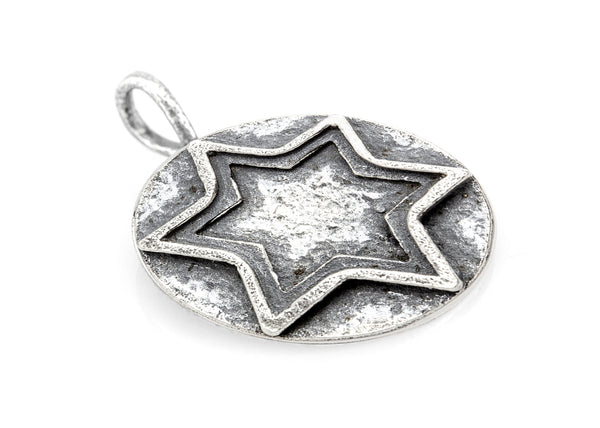 Star of David Medallion Antique Necklace