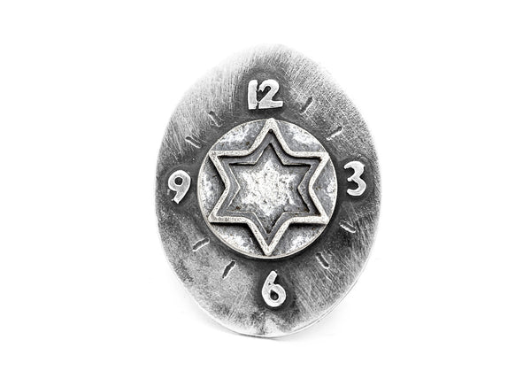 Star of David Medallion Clock Ring