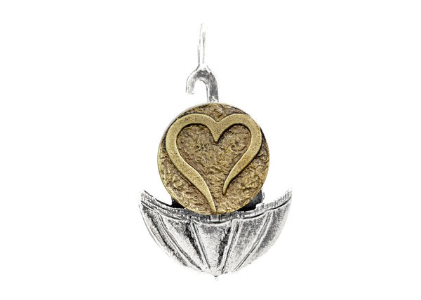 Open Heart Coin Medallion of Israel Necklace