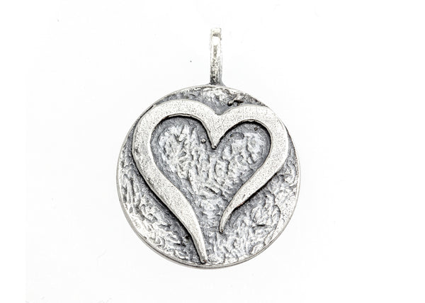 Open Heart Medallion Necklace