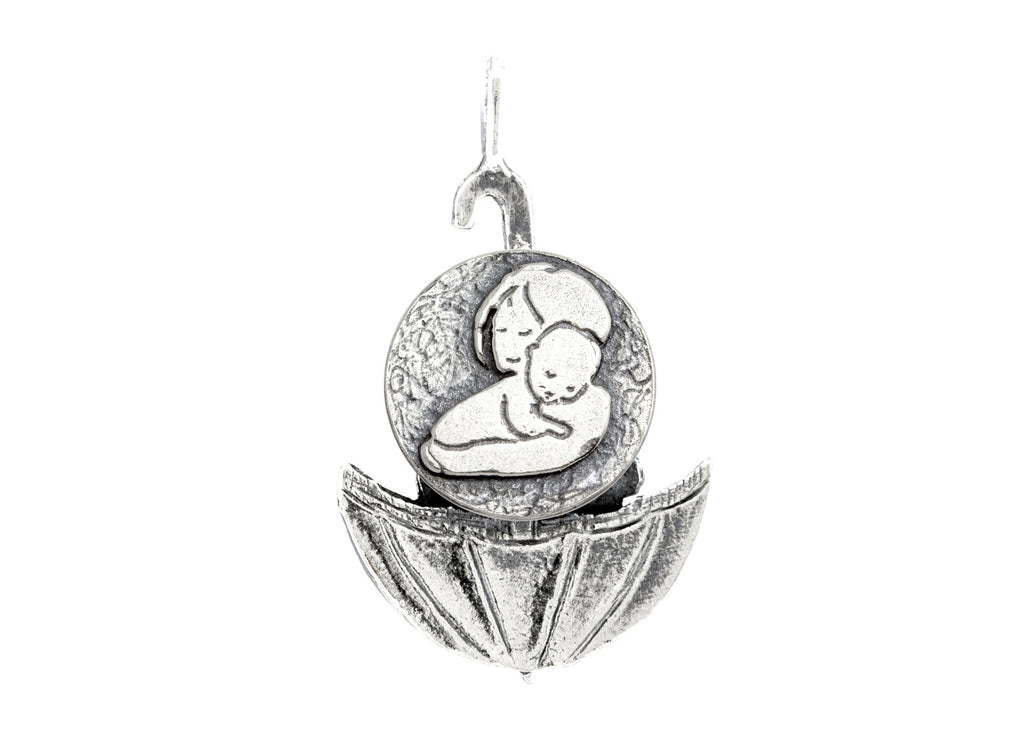 Mother and Child Unconditional Love Medallion of Israel Necklace