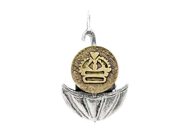 Regal Crown Medallion of Israel Necklace
