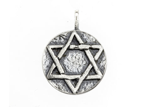 Star of David Medallion Necklace