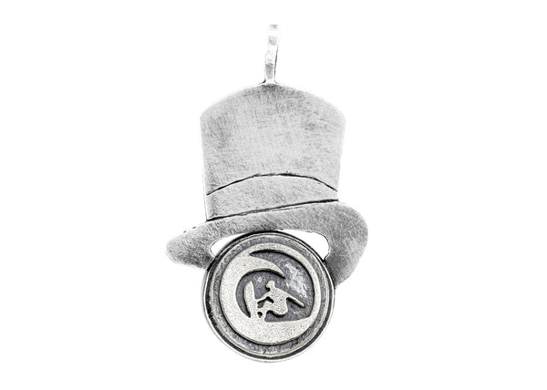 "Surfer ""Ride the Wave"" Medallion Hat Necklace"
