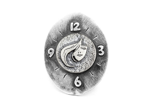 Stylish Face Coin Medallion Ring