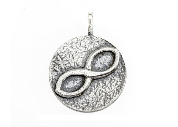Infinity Sign Medallion Necklace - Be Infinite