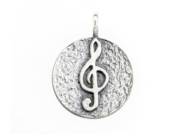 Sol Key Musical Coin Medallion Necklace
