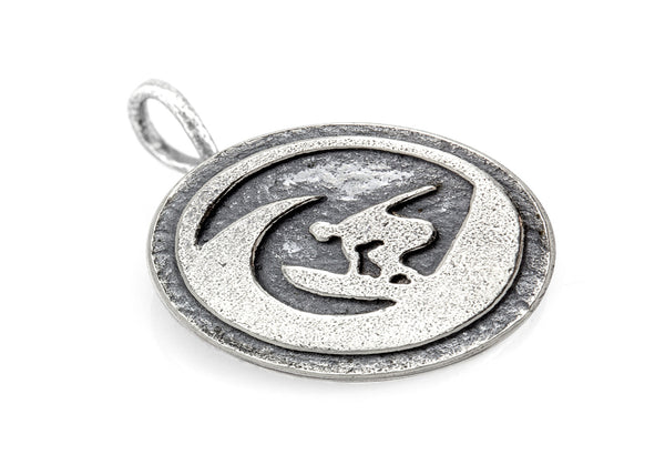 "Surfer ""Ride the Wave"" Medallion Necklace"