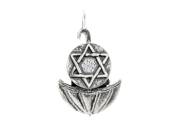 Star of David Medallion of Israel Coin Necklace