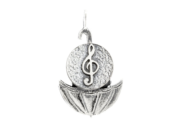 Sol Key Musical Medallion of Israel Necklace