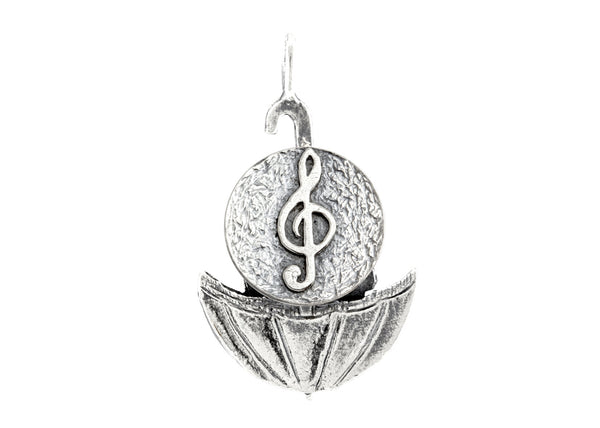 Treble Klef Musical Medallion of Israel Necklace
